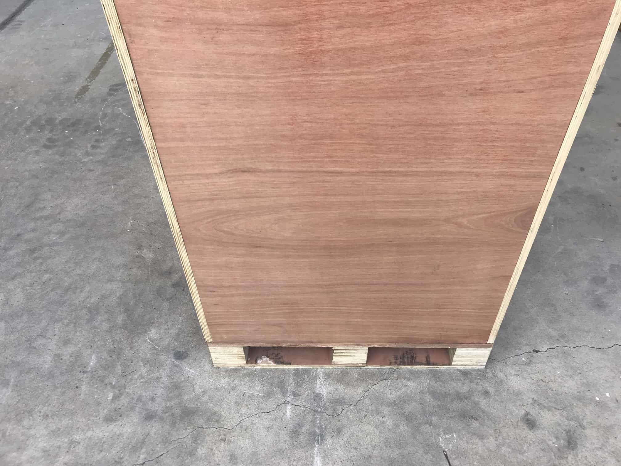 wooden cabinet rear shot