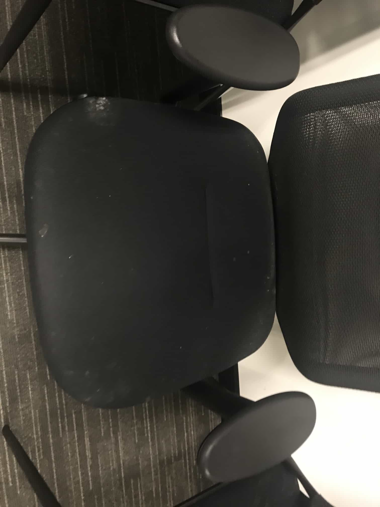 mould on black office chair