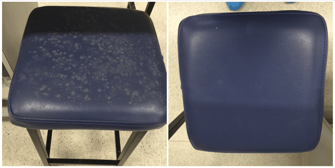 leather chair mould restoration