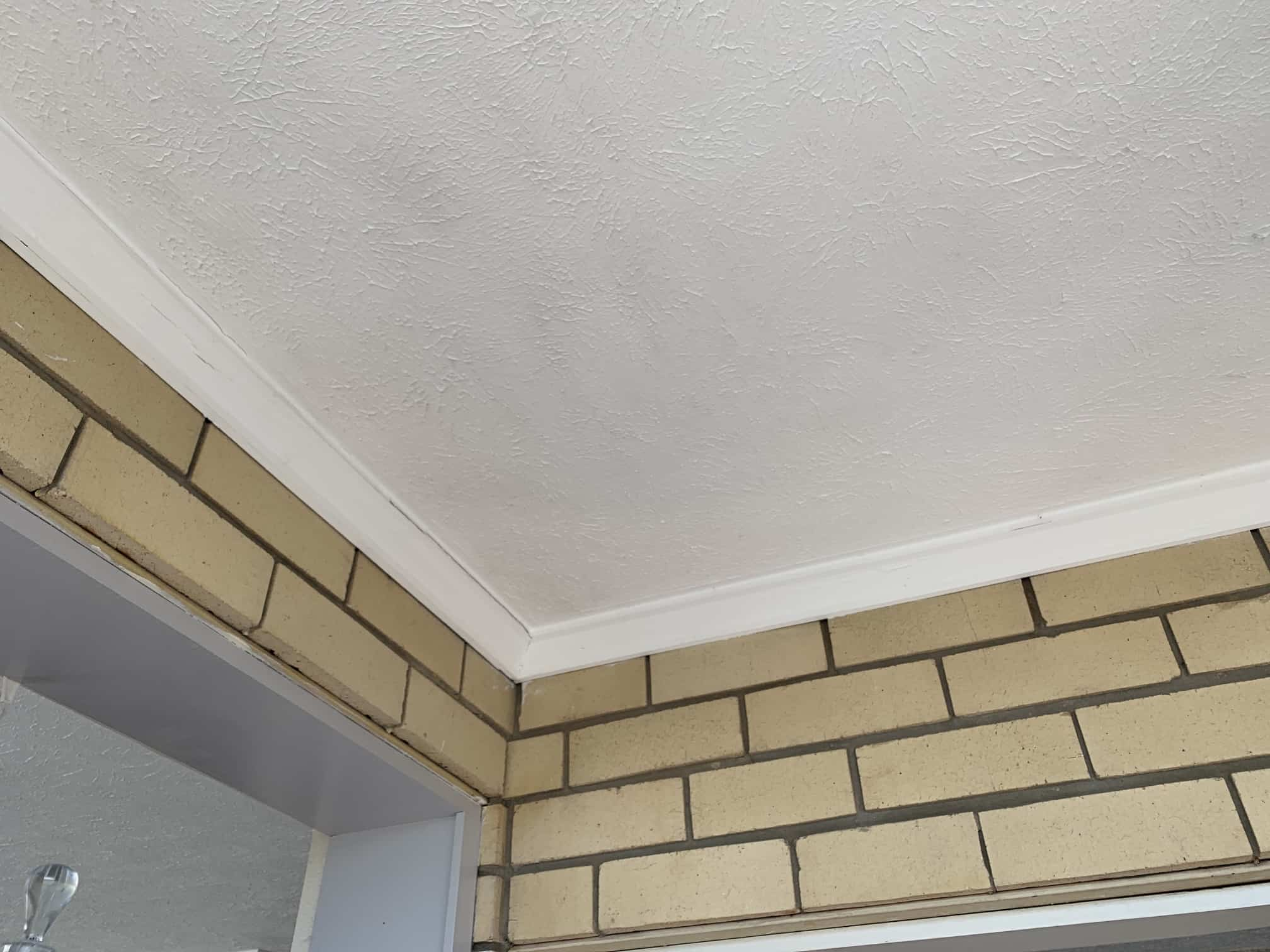 mould restoration on white ceiling