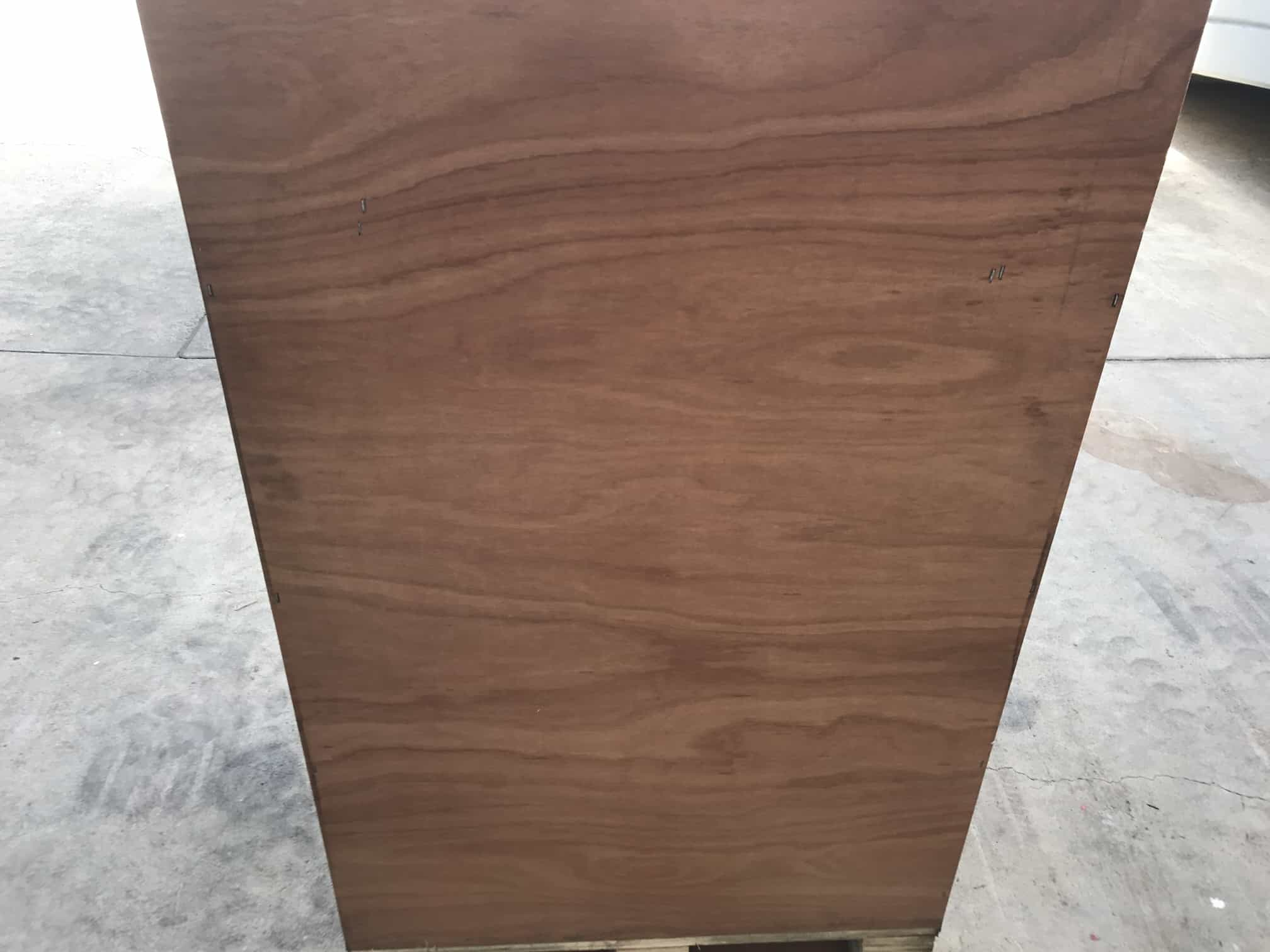rear of wooden unit