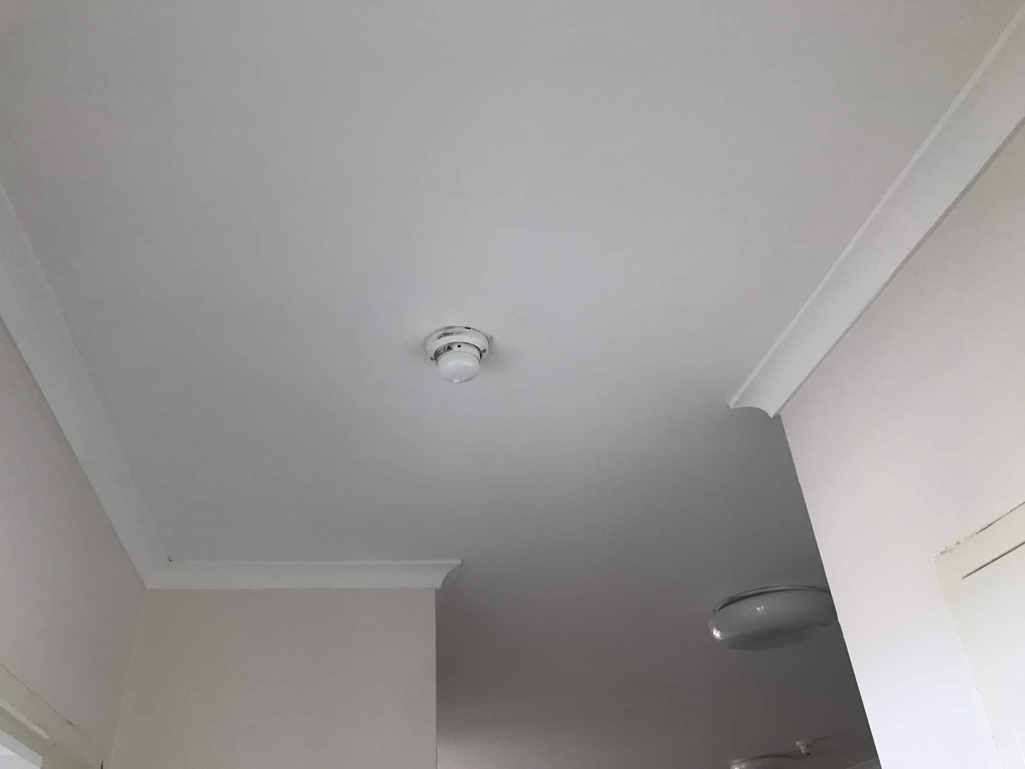 white ceiling with light fixtures