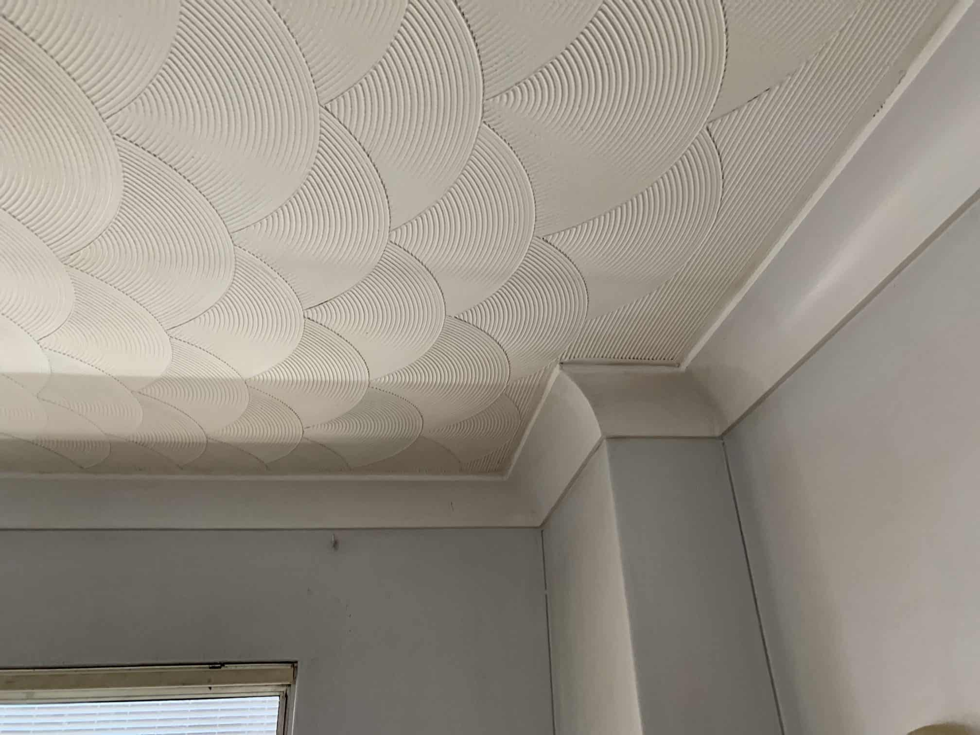 clean white ceiling in room